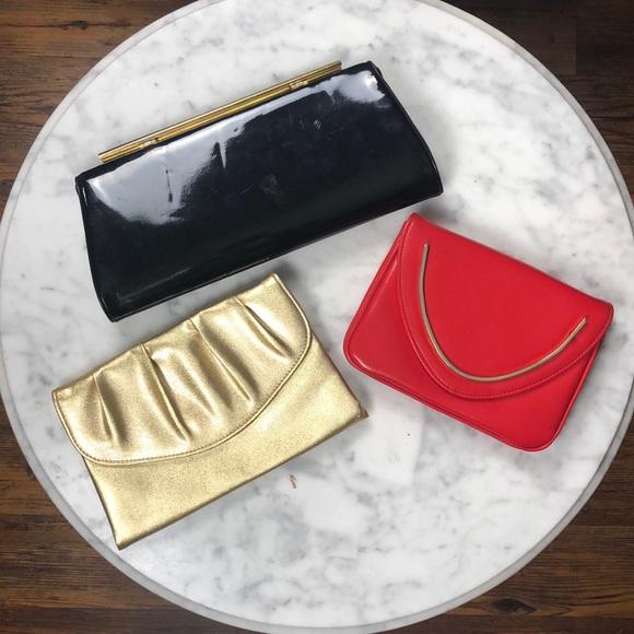 Handbags - Set of 3 Vintage Clutches
